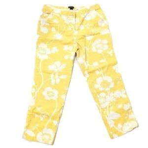J.Crew Sunshine Yellow Favorite Fit Floral Pants